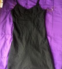 Crna haljina letnja sa cipkom