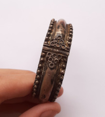 Stara unikatna srebrna narukvica