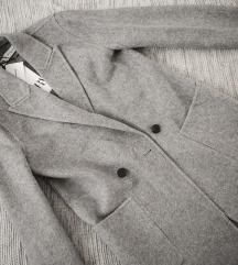 Masculine sivi Zara kaput, vel. XS