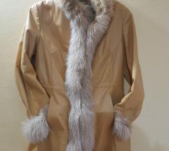 Zimska jakna prirodna koza i prirodno krzno