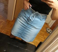 Teksas suknja na pertlanje