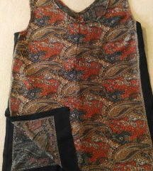 Unikatna bluza-tunika sa rusticnim motivom