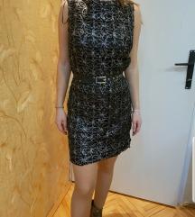 Orsay crno srebrna elegantna haljina