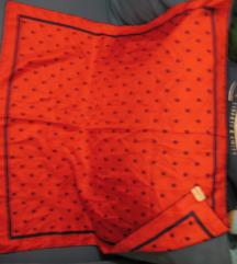 Crveno-teget svilena marama ,rasprodaja