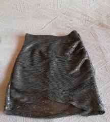 Srebrna Mango suknja 34 velicina