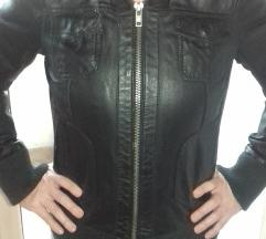Crna kožna jakna br 38