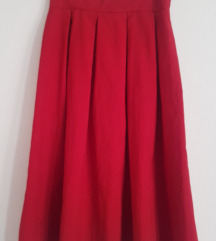 Prelepa crvena suknja XS/S snižena