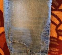 H&M plus size MODERNA teksas suknja vel 54 NOVO