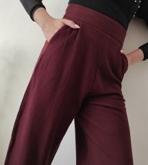 RezzZARA burgundy coulottes pantalone NOVO