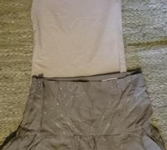 Suknja sa sljokicama i majica