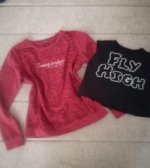 Bluzica i crop top majica M