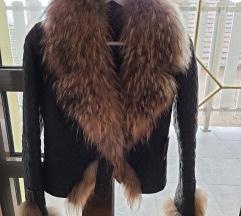 Kozna jakna krzno rakuna