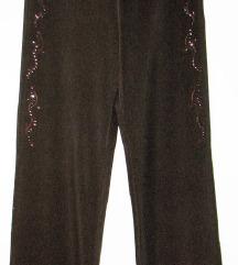 Pantalone - Braon sa aplikacijom - nove