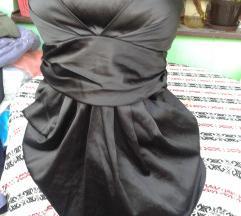 Amisu crna satenska haljinica, rasprodajaaa