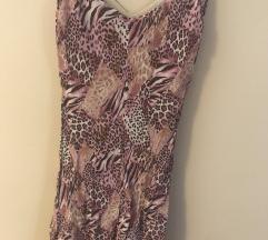 Roza tigrasta haljina