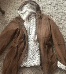 NOVO jakna kozna sa krznom