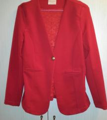 Crveni sako blejzer