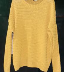 H&M baggy oker žuti džemper
