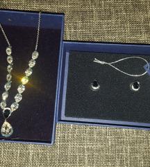 Swarovski ogrlica i mindjuse
