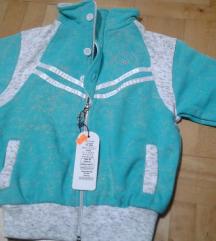 Nov tirkiz duks jaknica sa etiketom vel4-5