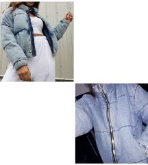 C&A Zimska puffer denim jakna kao nova