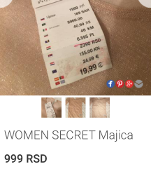 SNIŽENO WOMEN SECRET MAJICA