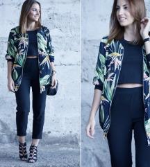 Zara floral print bomber jakna✔
