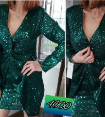 Zelena NOVA haljina sa etiketom
