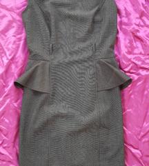 Siva midi haljina, vel. 36