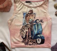 SOLIN NOV sareni komplet majica i suknja M