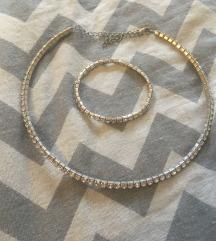 Set nakita narukvica+ogrlica sa kristalima