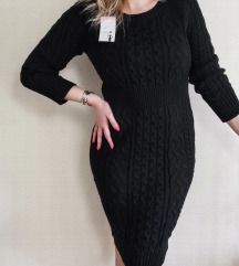 ITALY midi džemper haljina krupnijeg tkanja NOVO