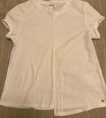 Bela asimetricna majica-NOVO-SNIZENO