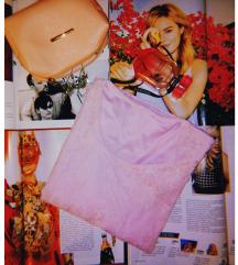 Nežno roze čipkasta bluza, M-L
