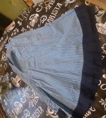 Prelepa suknja midi siroka nabrana topla