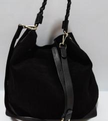 ZARA velika torba prirodna 100%koža 35x35