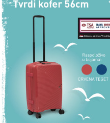 NOV Umbro tvrdi kofer 56cm boje crvena i teget