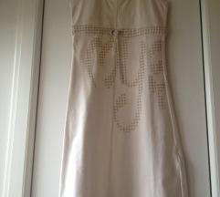 Pamučna bež haljina