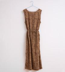 90s vintage maxi haljina sa printom