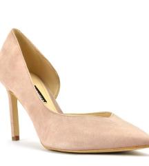 Nine west prljavo roze cipele od prevrnute kože