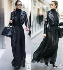 Crna plisirana suknja M