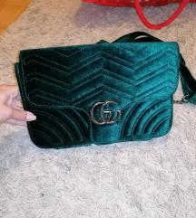 Smaragdno zelena torbica