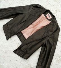 Crop kozna jakna Only