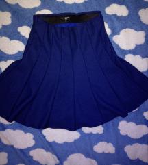 Plava suknja sa sitnim tackicama