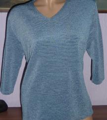 Plava majica od rebrastog materijala