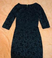 Crna haljinica S velicina sa cipkom