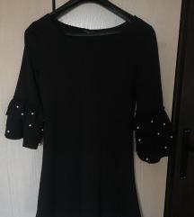 Mini crna zimska haljina