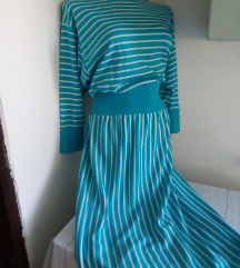 Plantex prugasta haljina 44