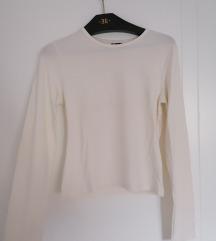 Basic firlirana krem bela majica S