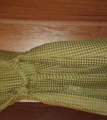 zimska maslinasta haljina nova